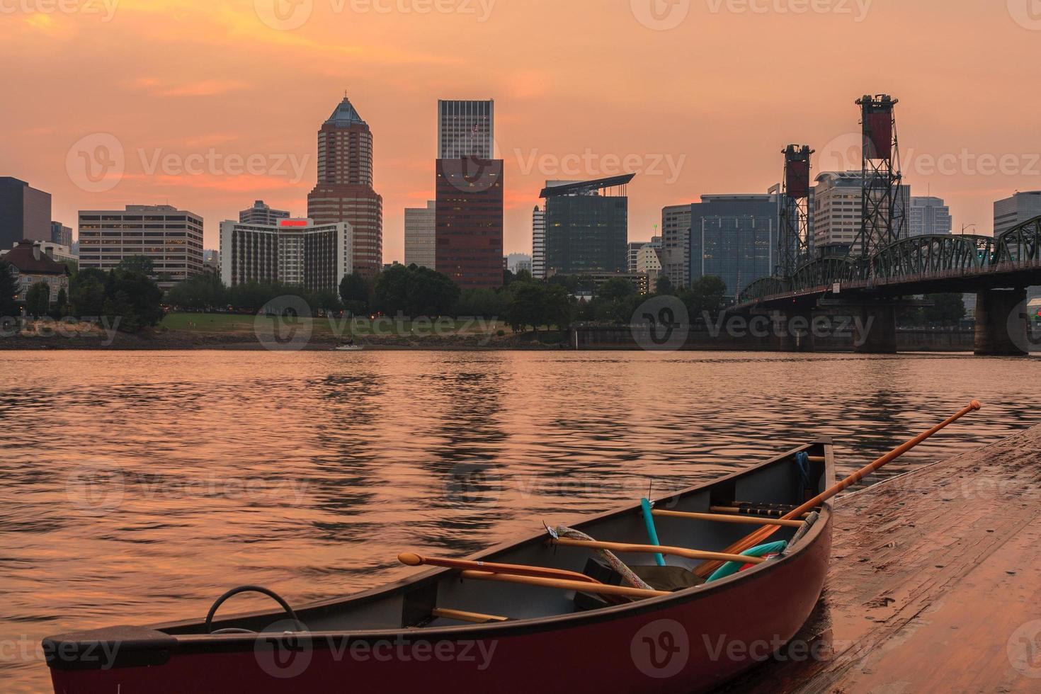 coucher de soleil à portland oregon photo
