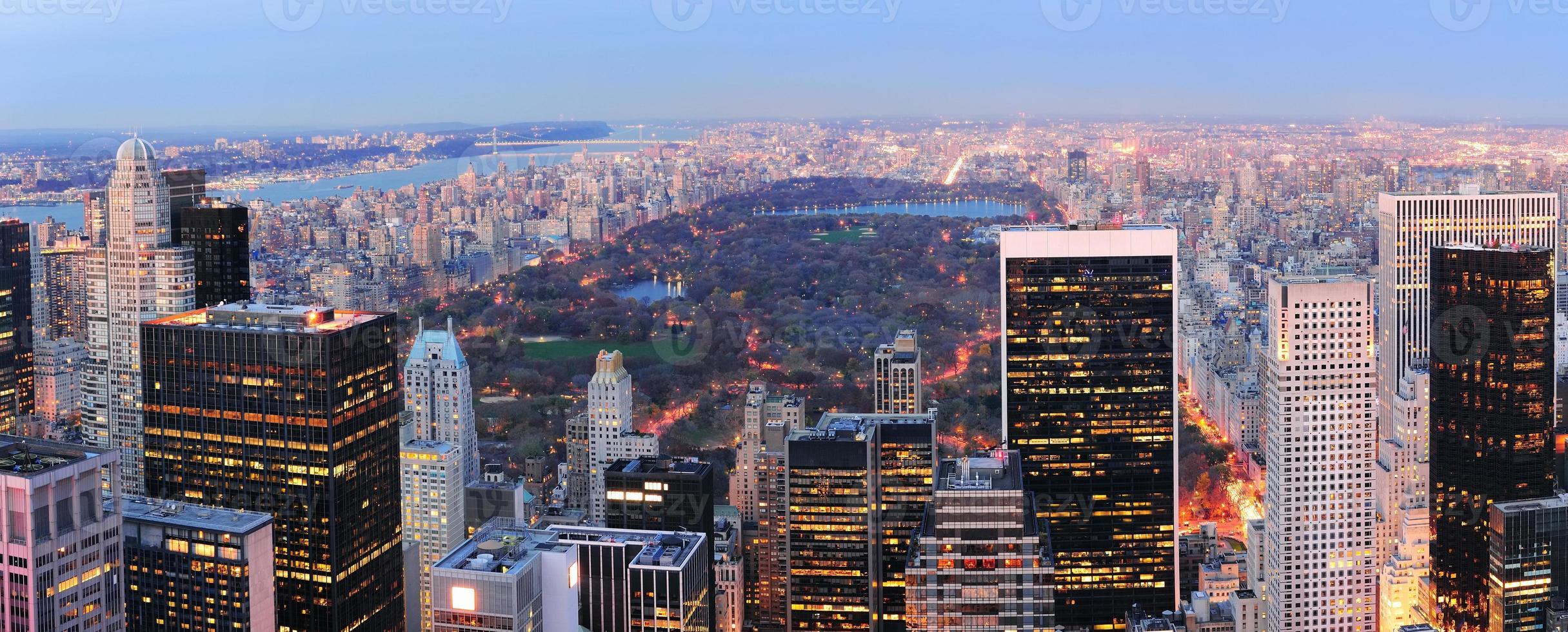 panorama du parc central de new york city photo