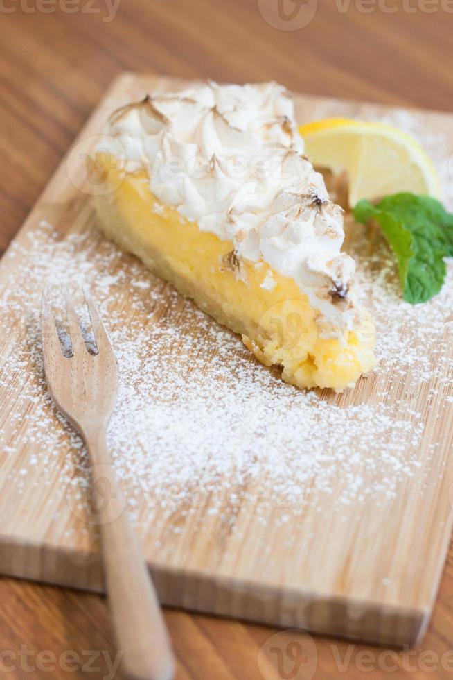 tarte au citron meringuée photo
