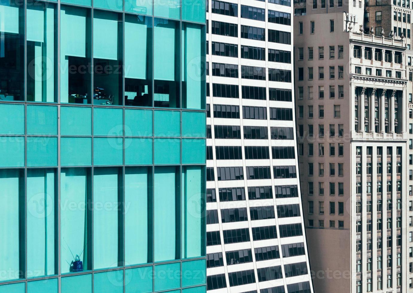 Détail de l'immeuble de bureaux de bryant park, manhattan, new york photo