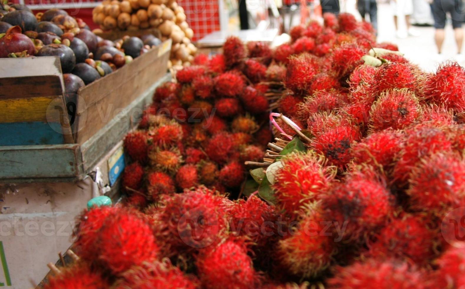 nourriture - fruits - ramboutan photo