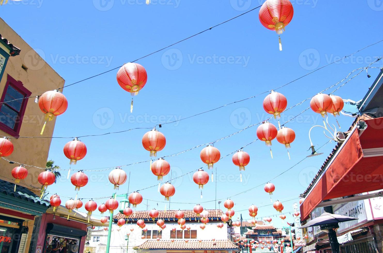 lanternes de la ville de Chine photo