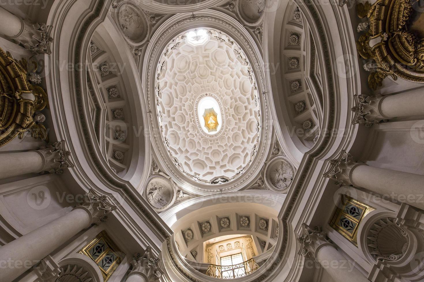 Église de san carlo alle quattro fontane, rome, italie photo