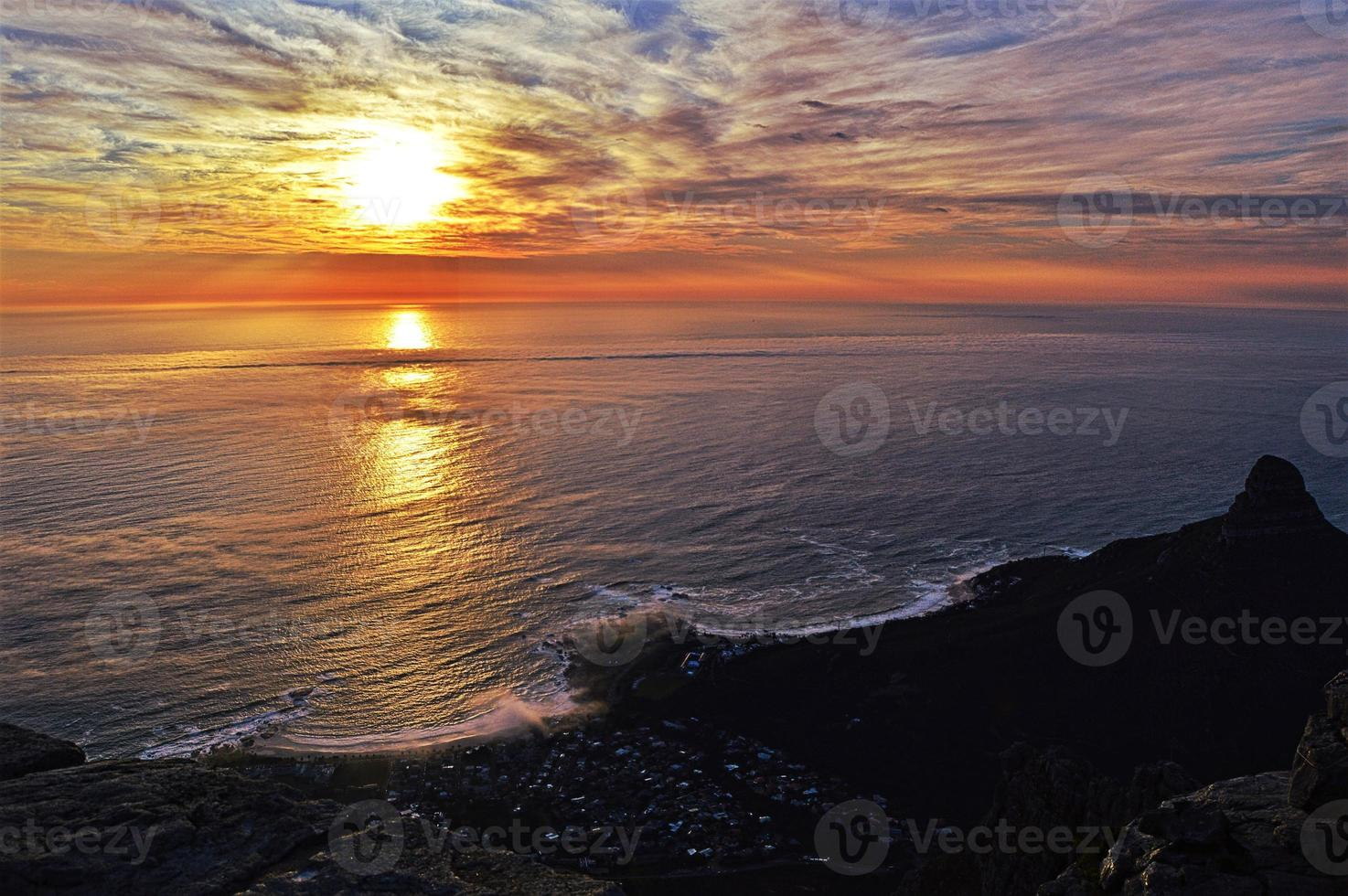 coucher de soleil sur le cap photo