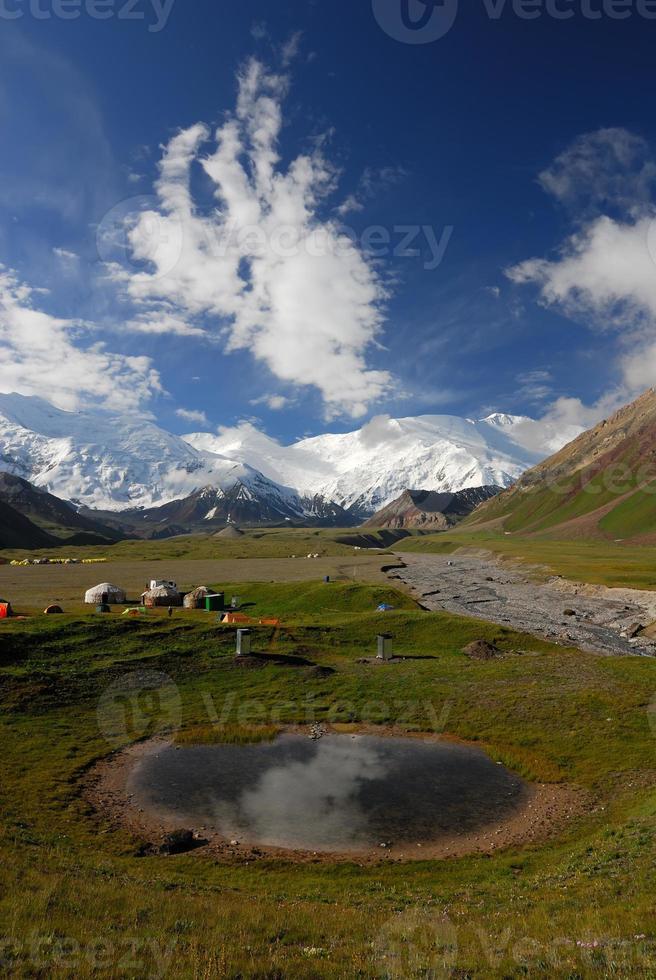 vue d'été du camp de base photo