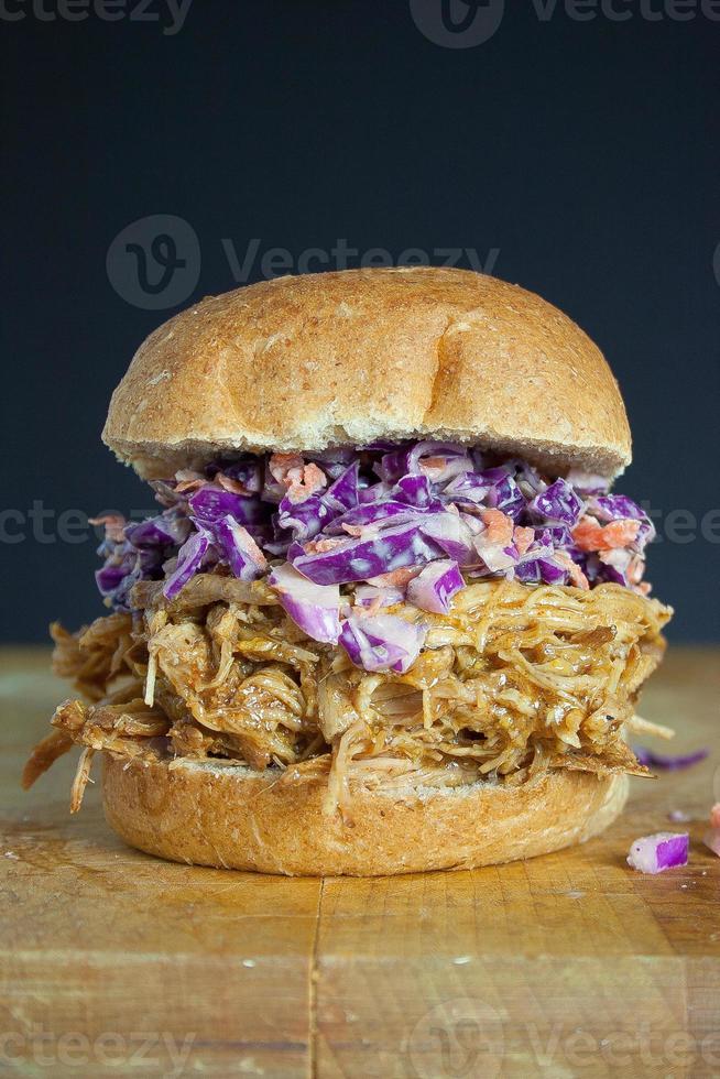 sandwich au porc effiloché photo
