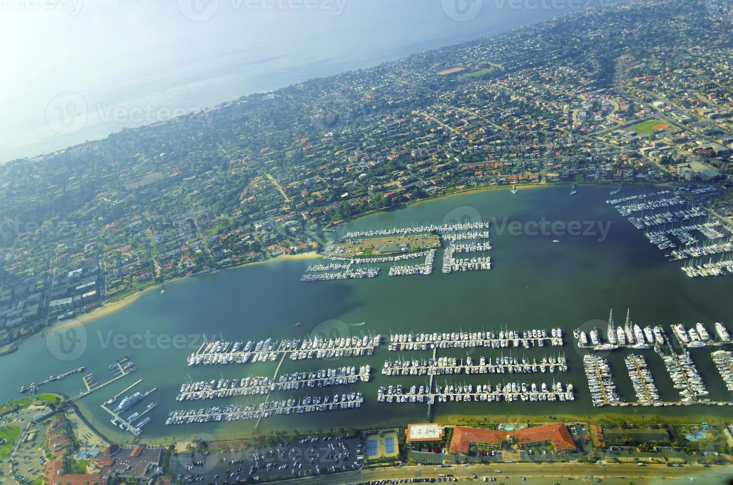 vue aérienne du point loma, san diego photo