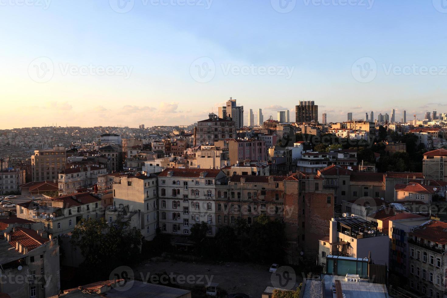 vue sur la ville d'istanbul photo