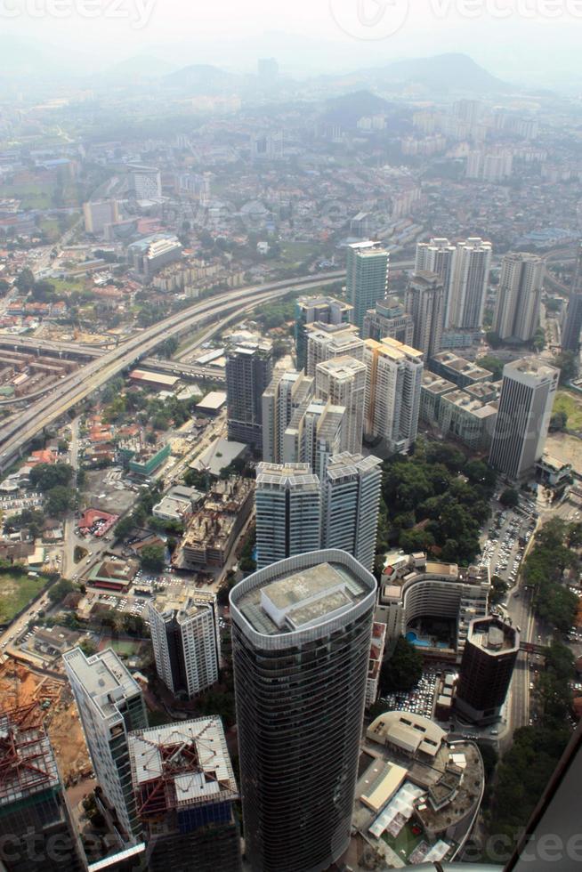 vue aérienne de kuala lumpur de klcc photo