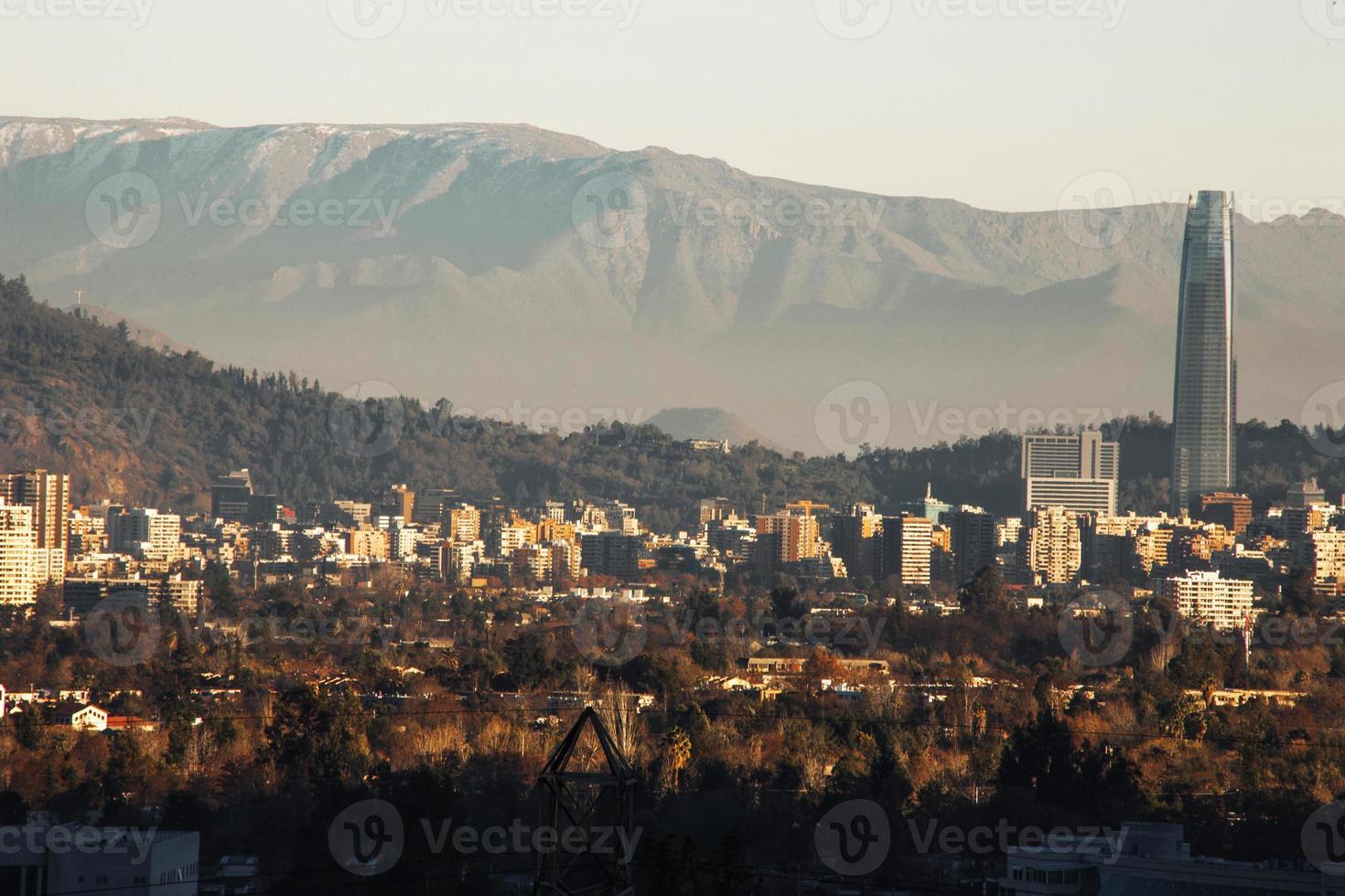 Santiago chile skyline photo