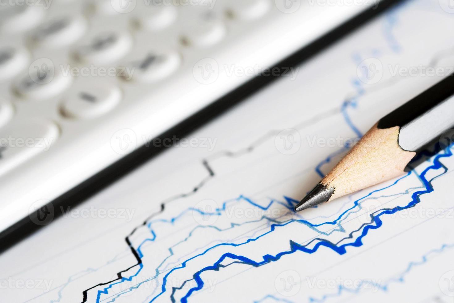 graphiques et tableaux financiers photo