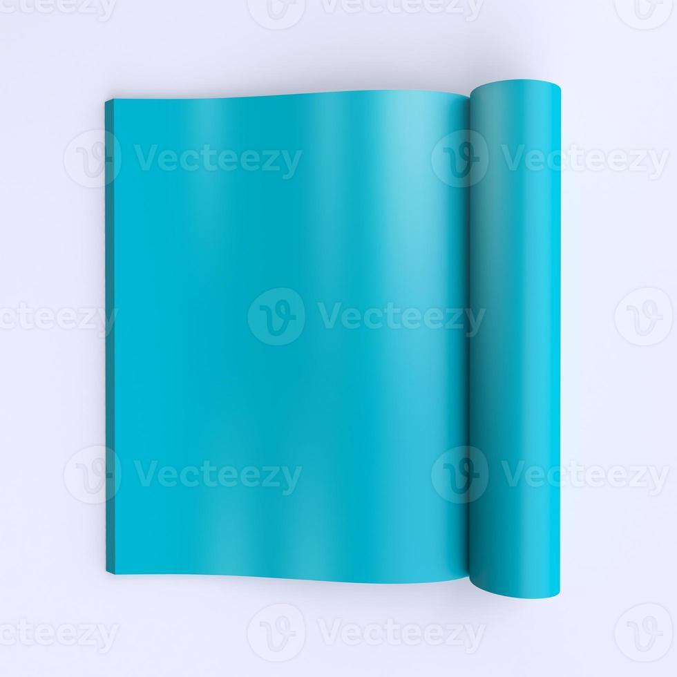 modèle de pages blanches d'un journal ouvert ou de livres. photo