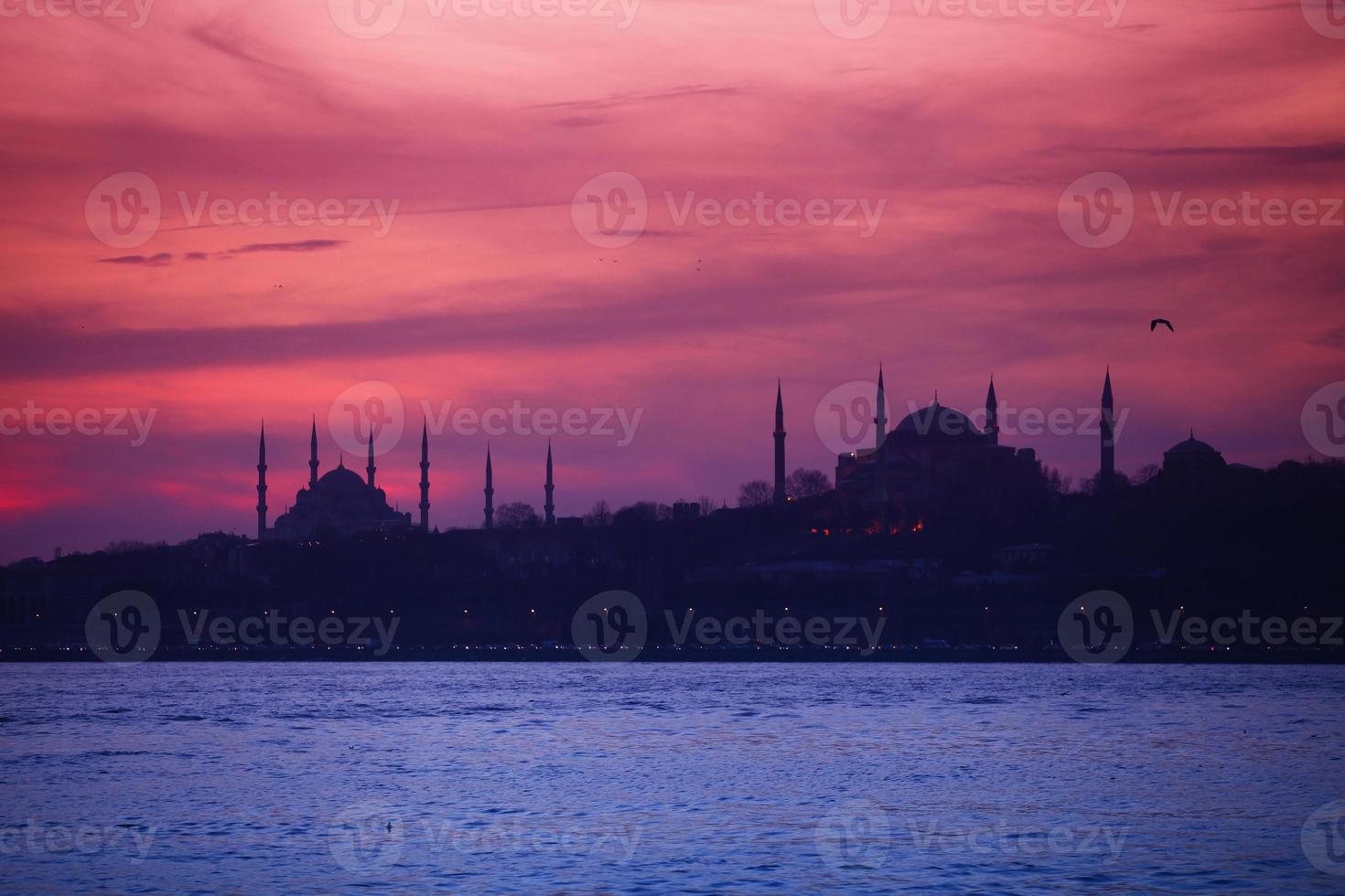 mosquée bleue et hagia sofia photo