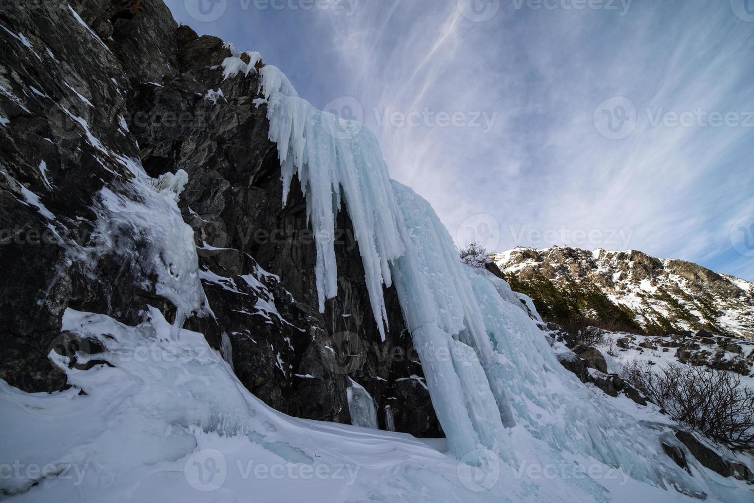 chutes de glace dans les montagnes rocheuses du colorado photo