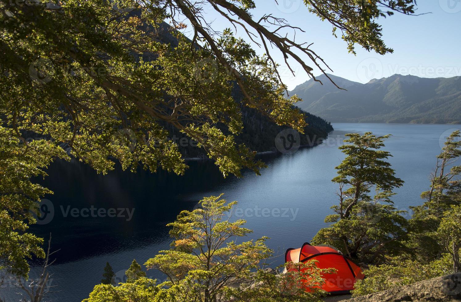 carpa con paisaje photo