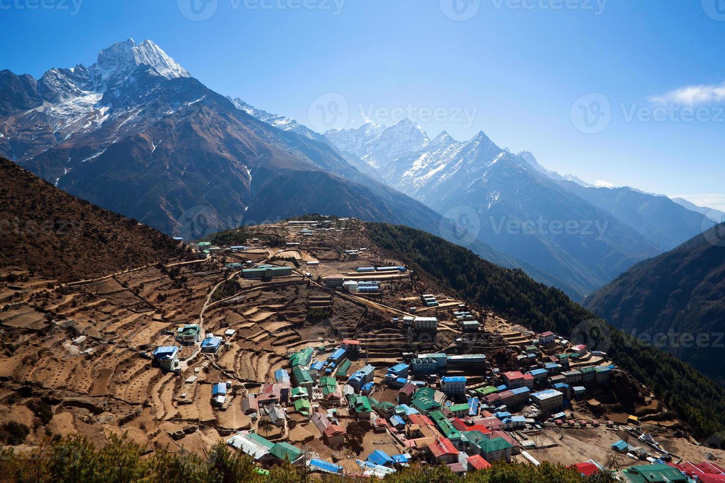 bazar de namche, népal photo
