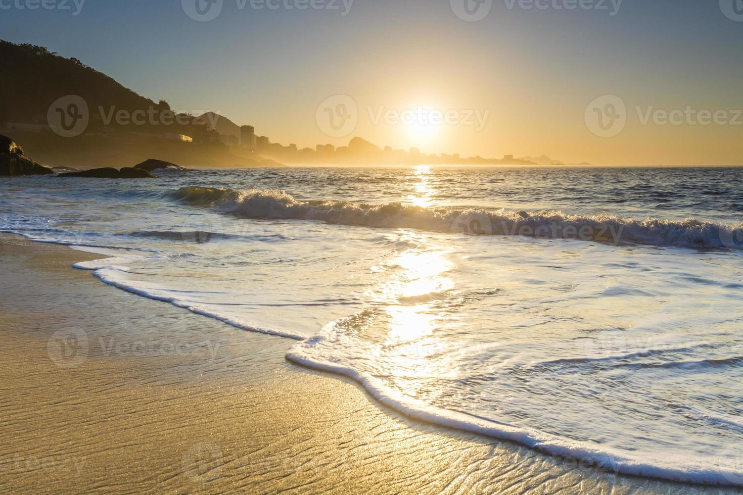 lever du soleil à rio photo