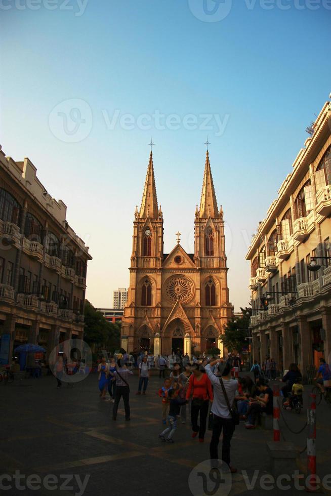 coeur sacré, cathédrale catholique, dans, les, guanzhou, porcelaine photo