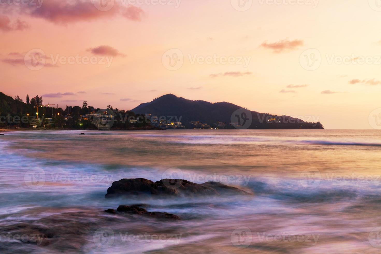 coucher de soleil tropical. photo
