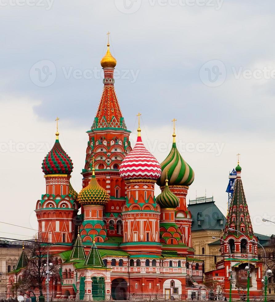 Cathédrale Saint-Basile sur la place rouge, Moscou, Russie photo