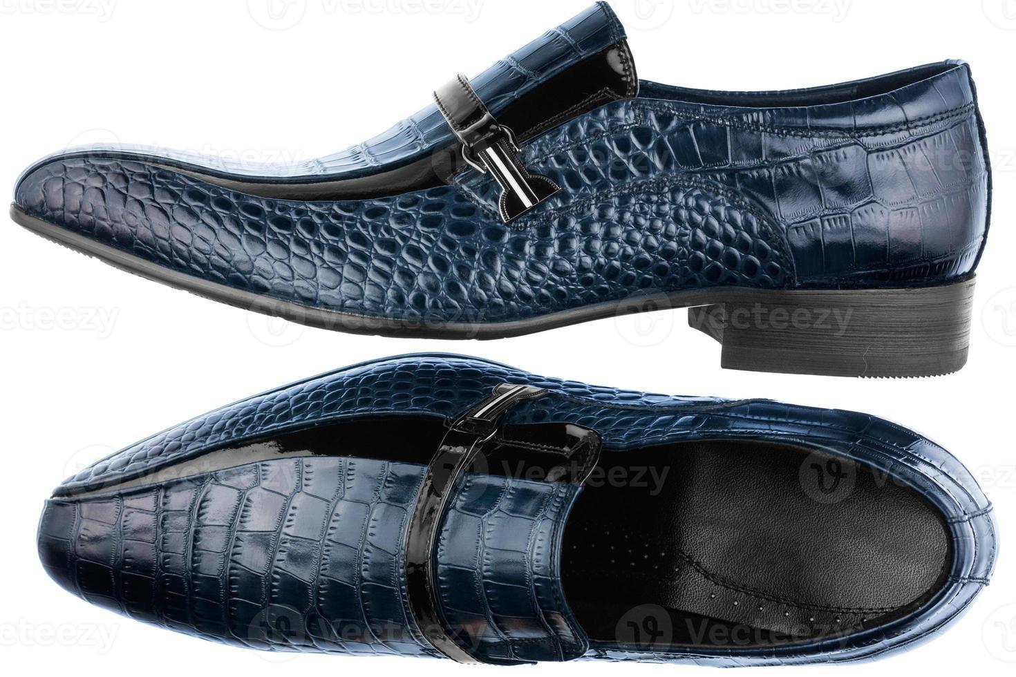 chaussures bleues classiques pour hommes photo