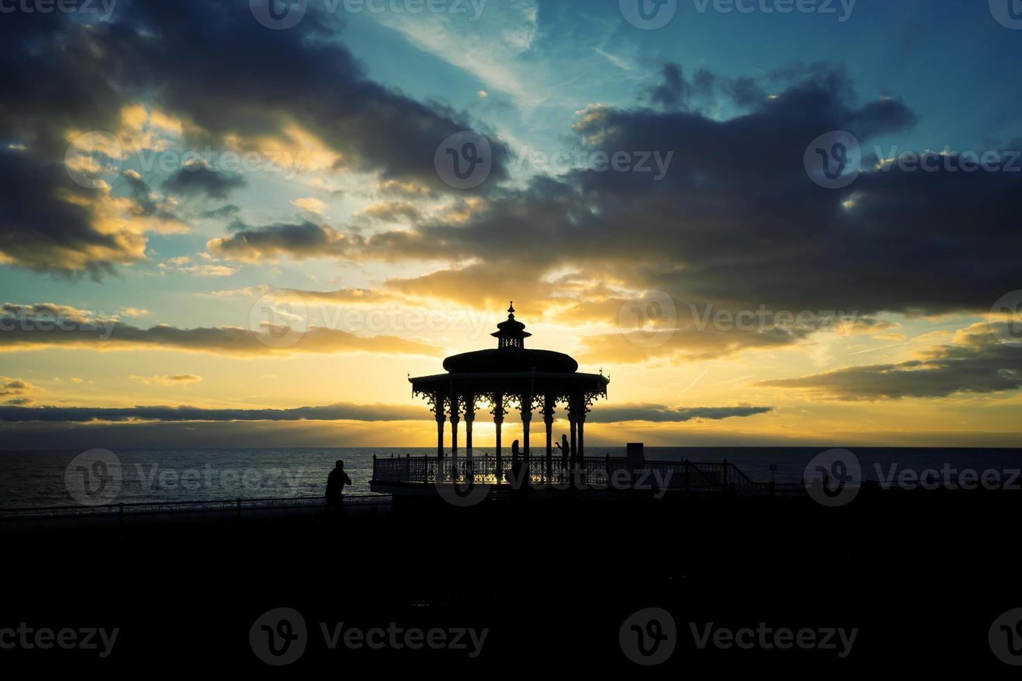 coucher de soleil pavillon Brighton photo