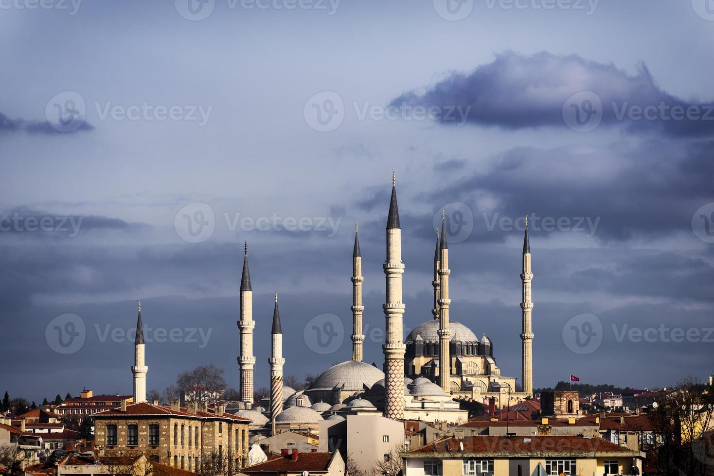 Coucher de soleil sur la mosquée Selimiye photo