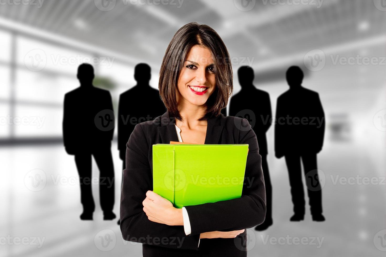 chef d'équipe femme photo