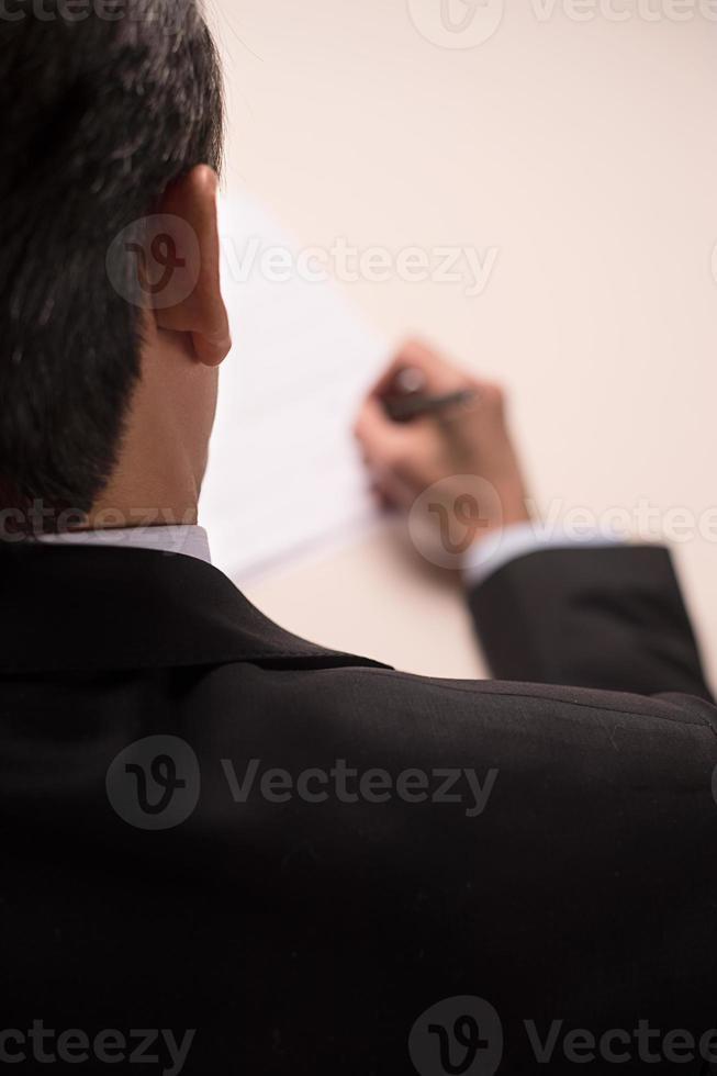 signature de contrat. photo