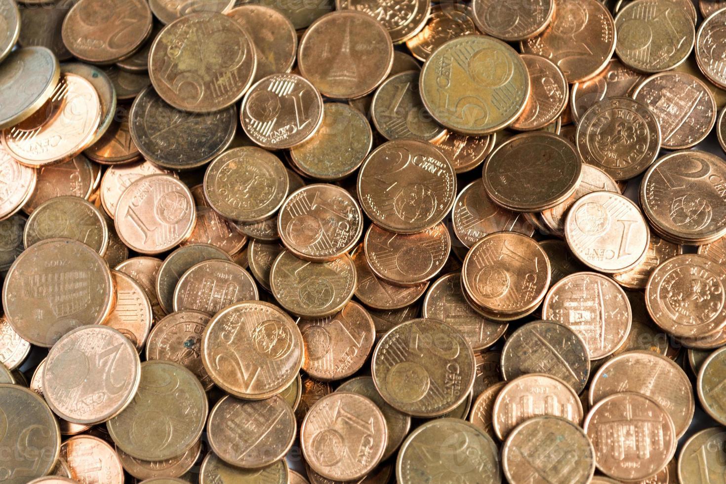 argent: pièces en euros photo