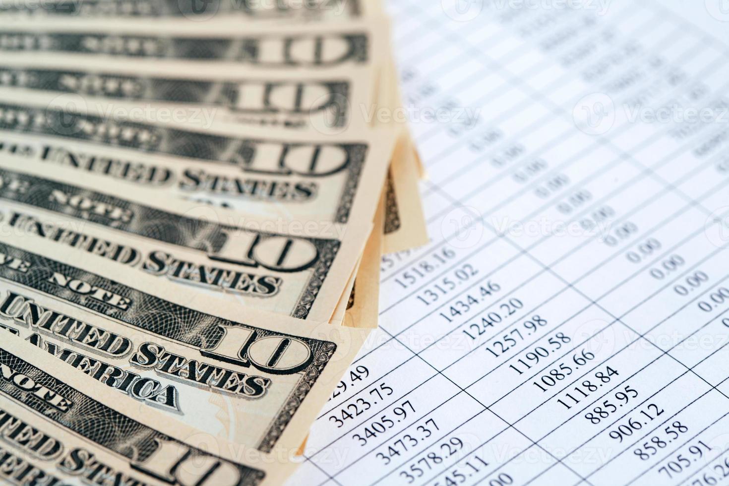 contexte financier photo