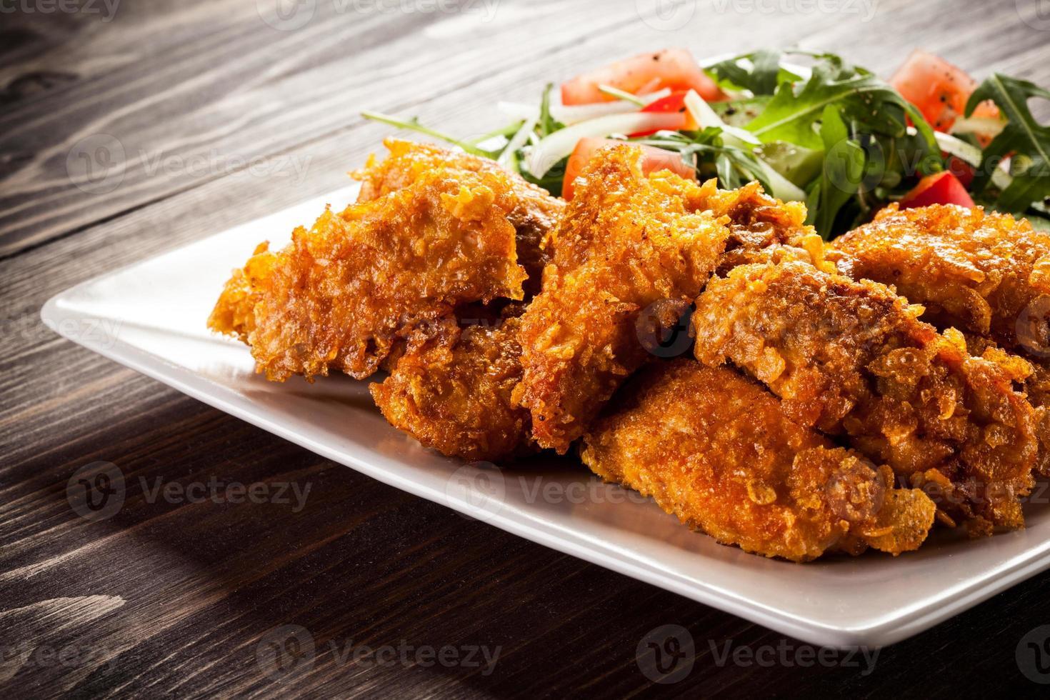 nuggets de poulet et légumes photo