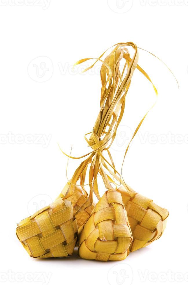 riz gluant compact malais traditionnel appelé ketupat pour cele photo