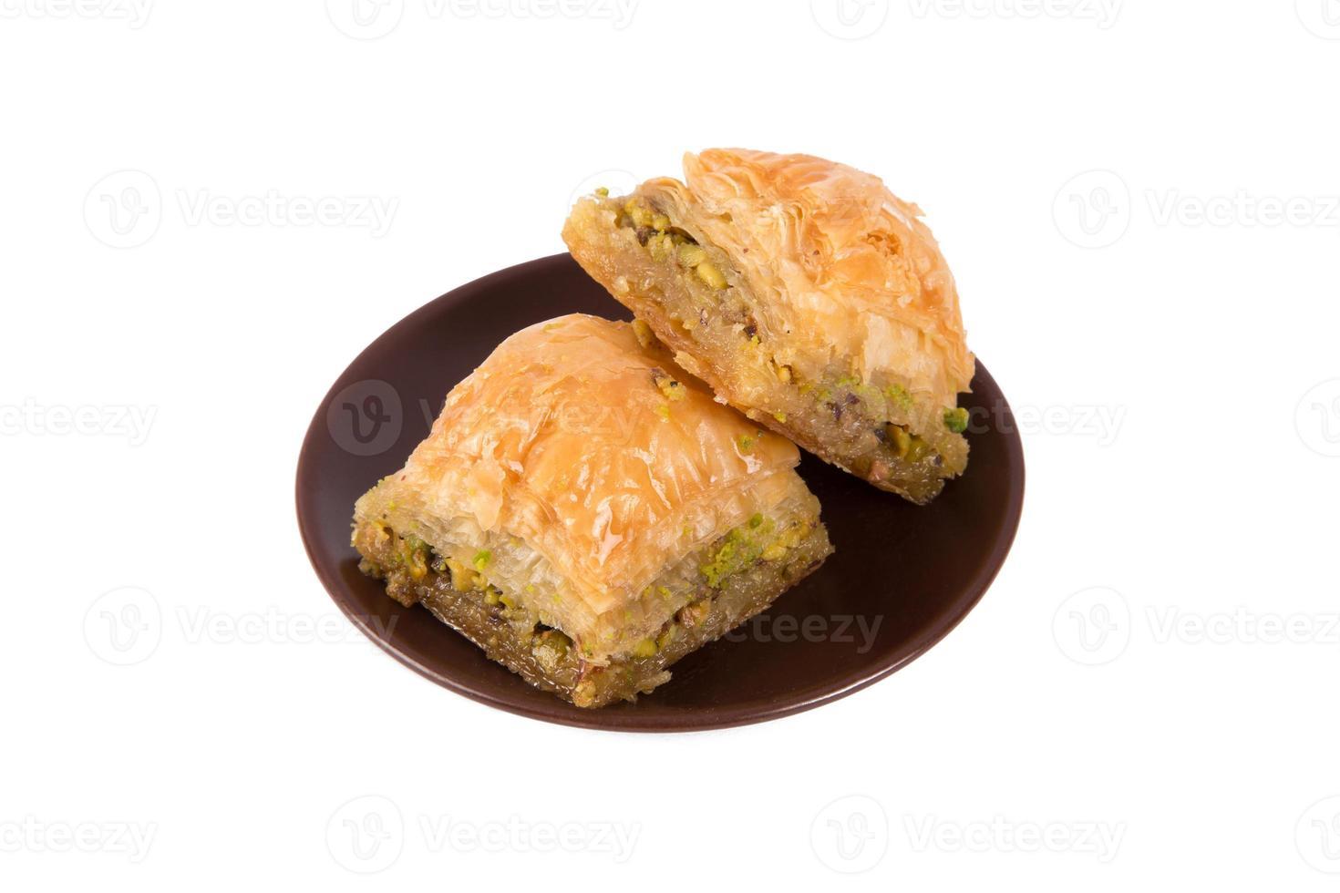 servir baklava avec pistache photo