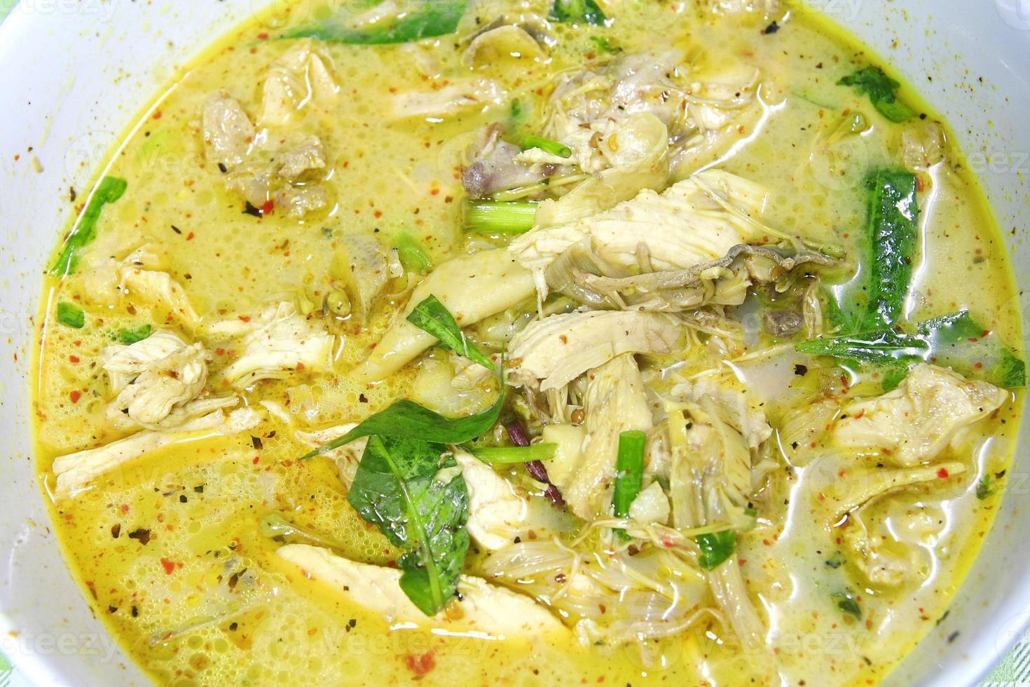poulet curry épicé photo