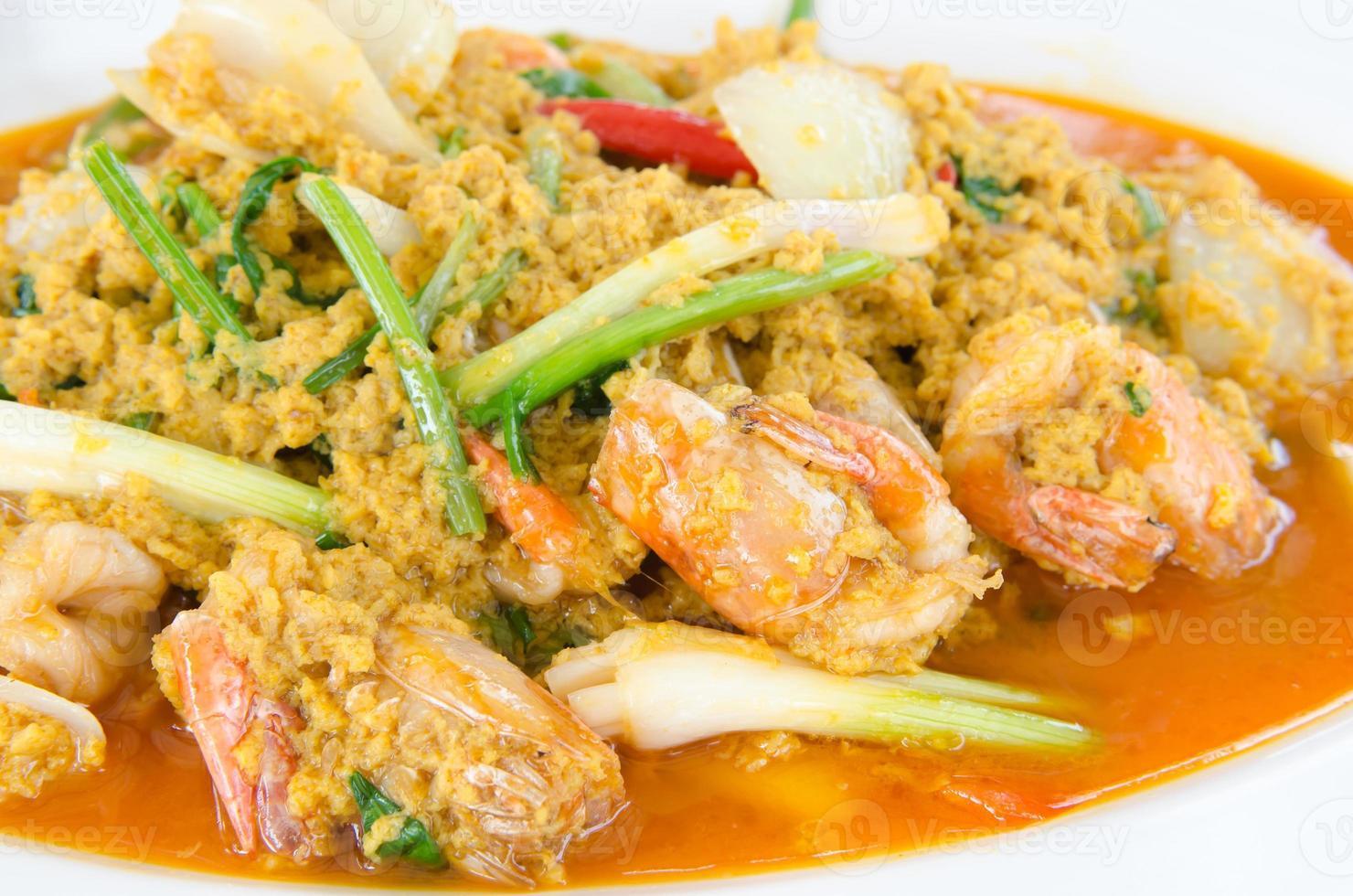 curry de crevettes photo