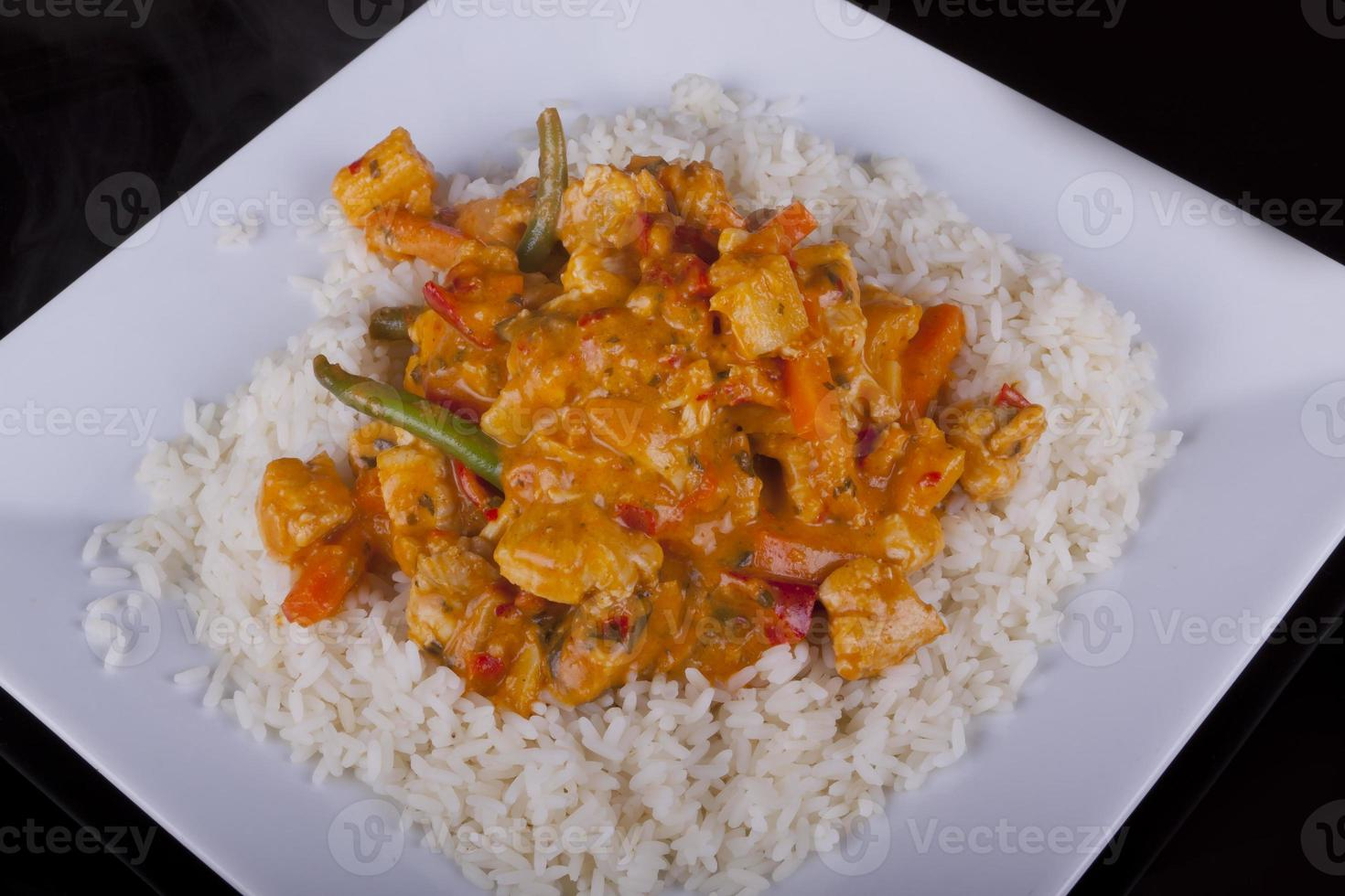 curry thaï rouge au riz photo