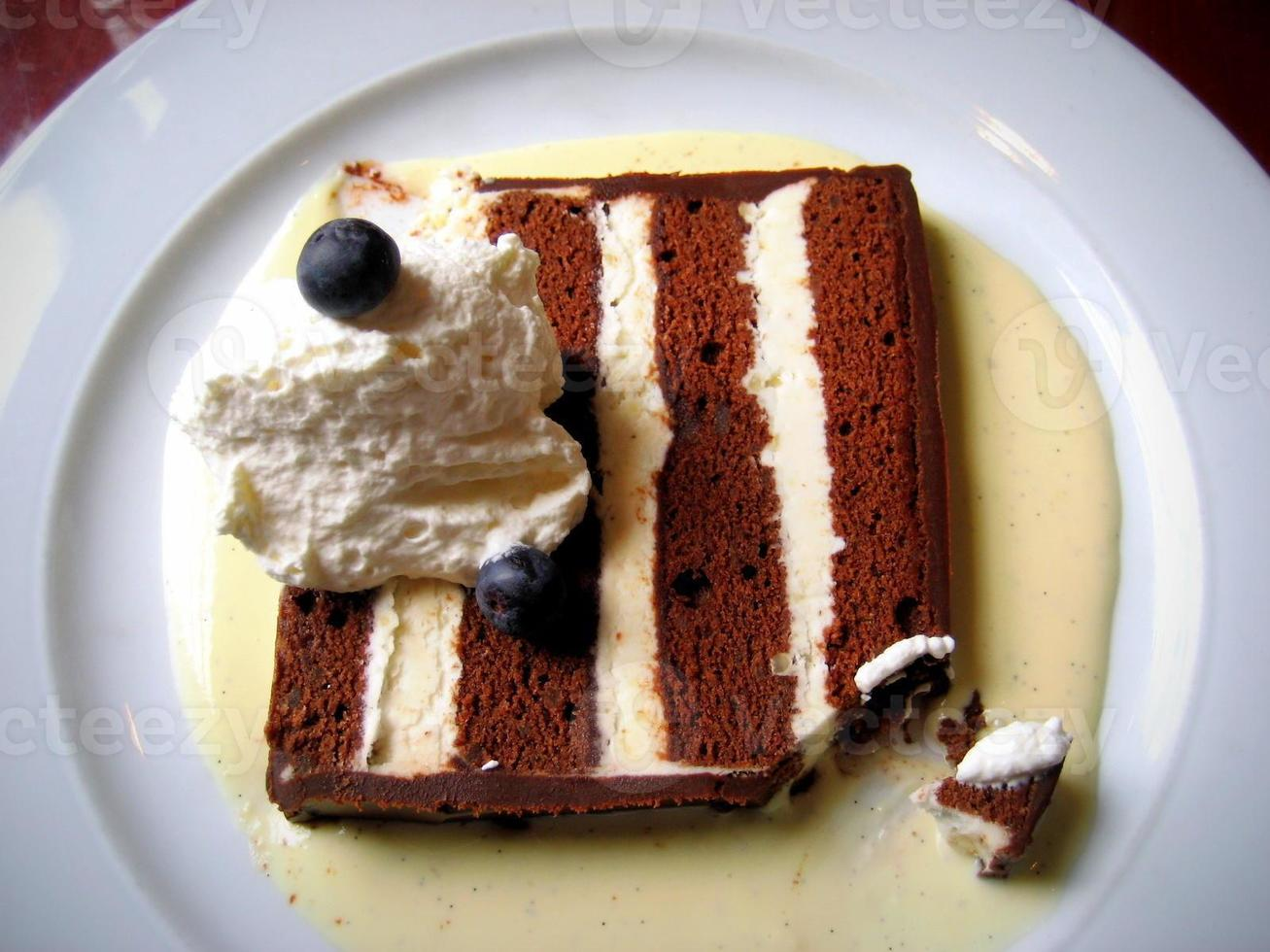 gâteau de tourte au chocolat photo