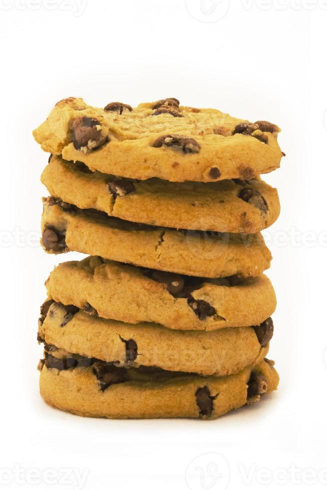 pile de cookies aux pépites de chocolat - délicieux! photo