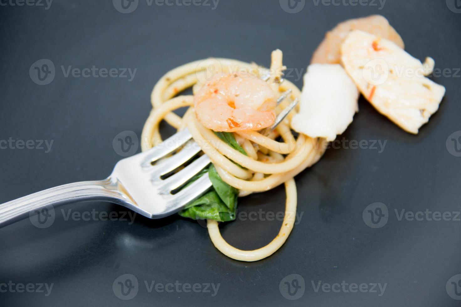 recette italienne: spaghetti et fruits de mer photo