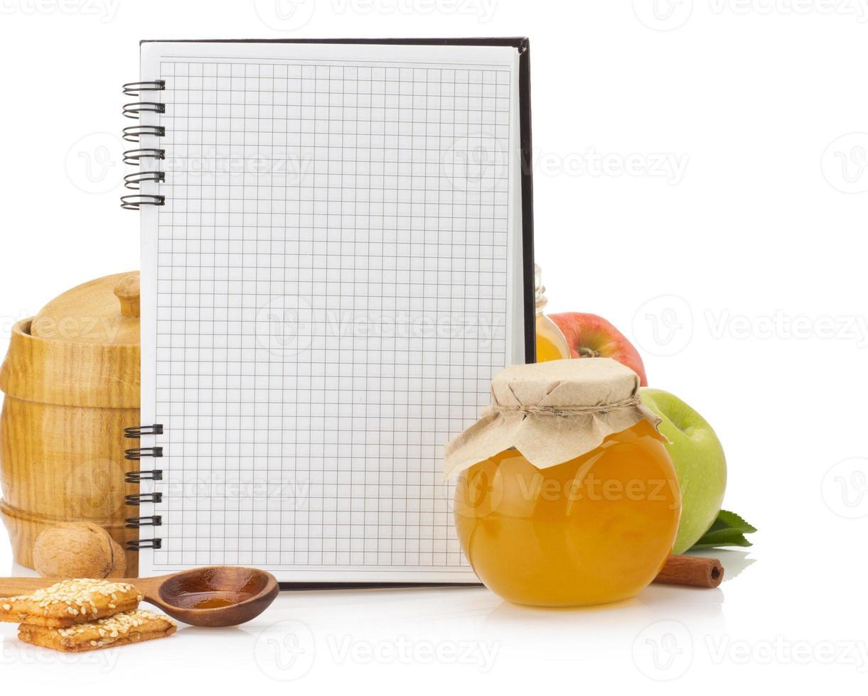 livre de recettes de cuisine et de la nourriture photo