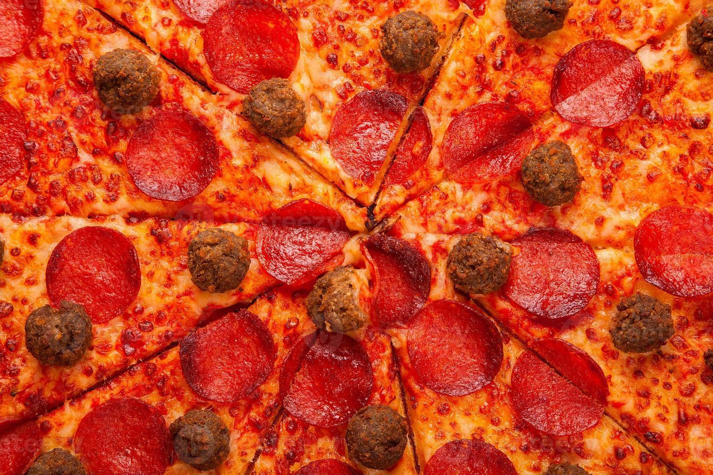 délicieuse pizza fraîche photo