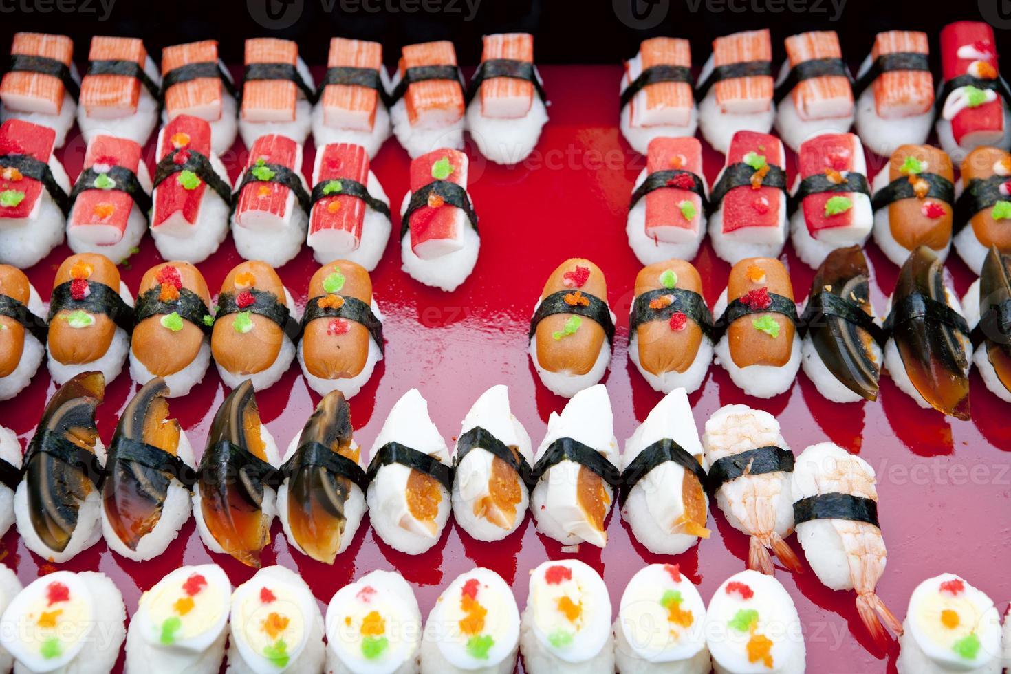 composition avec sushi photo