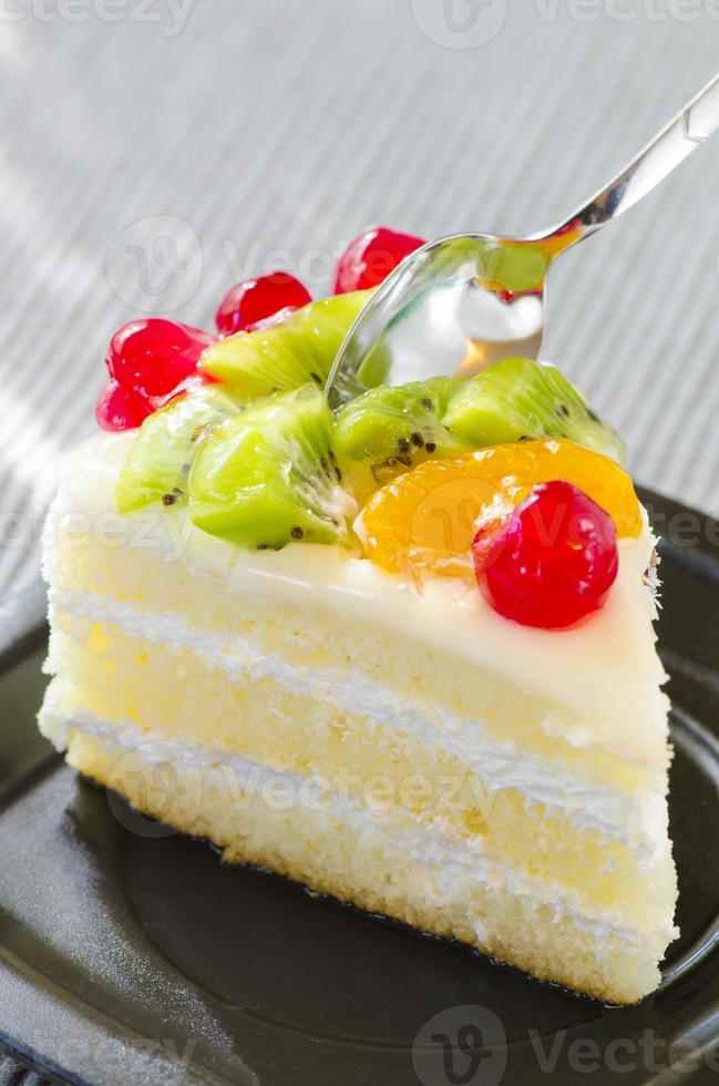 gâteau aux fruits photo