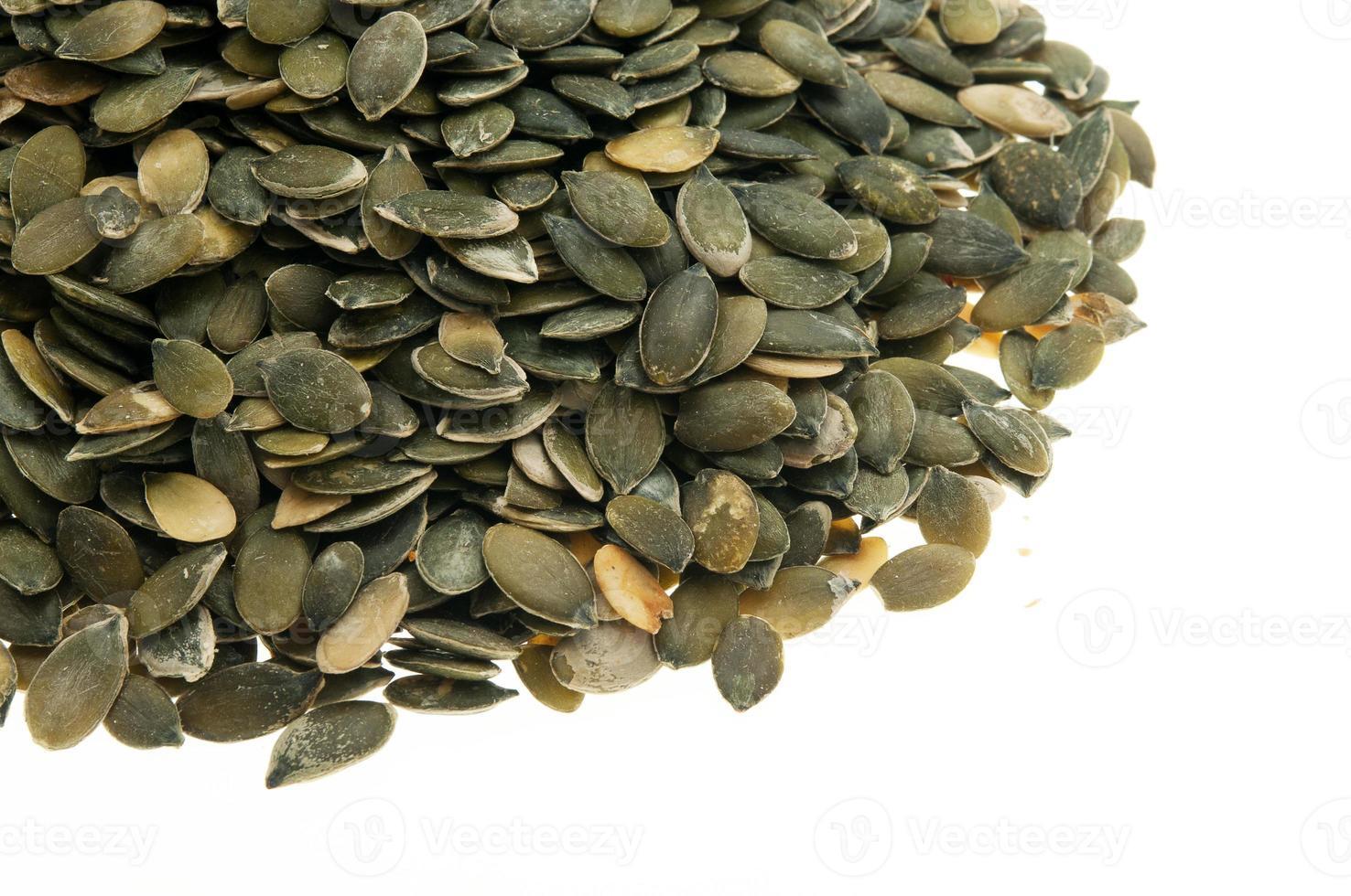 graines de citrouille décortiquées photo