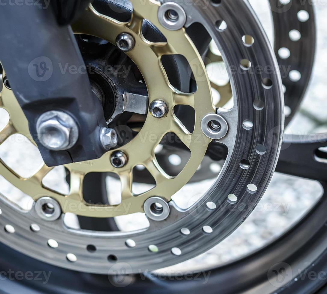 fond de frein de roue de moto en moto, roue de moto photo