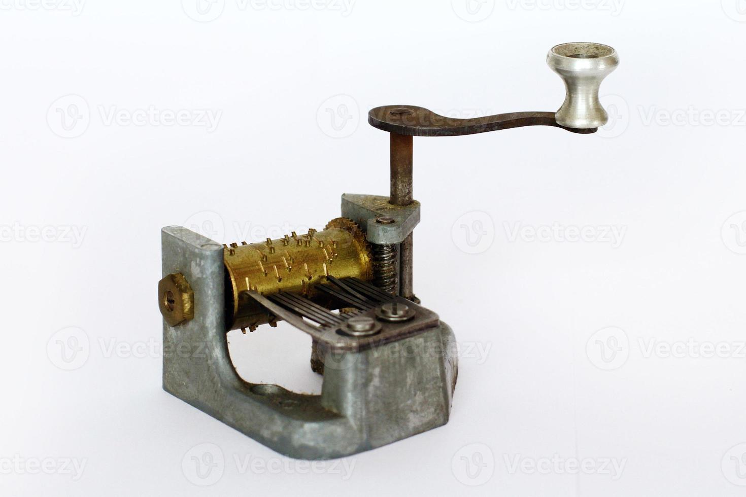 carillon - mini lecteur de musique sur fond blanc photo