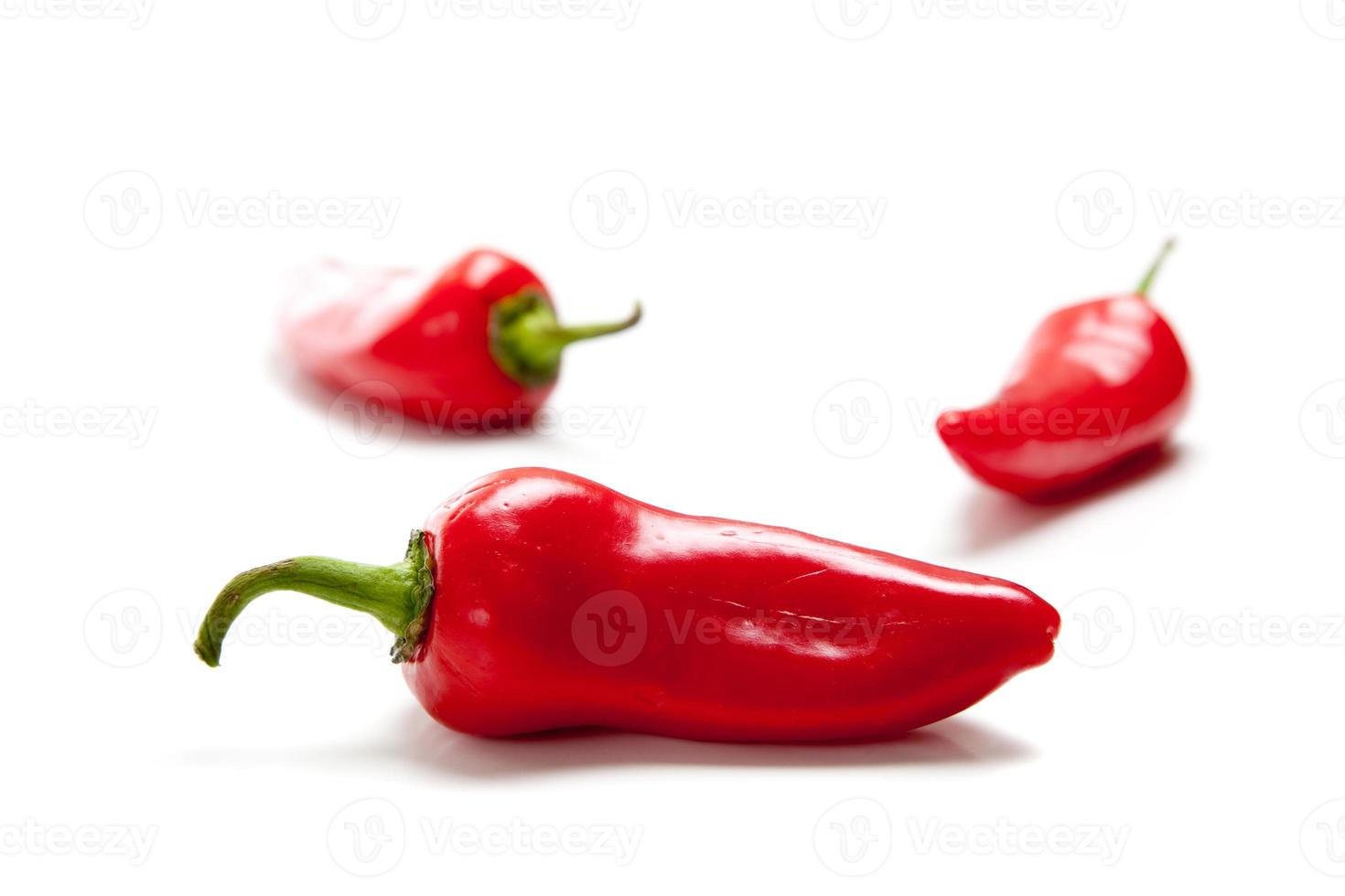 poivrons rouges chauds ou fresno photo