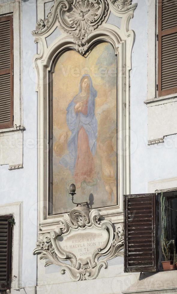 fresque vierge, oeuvre du 17e siècle photo