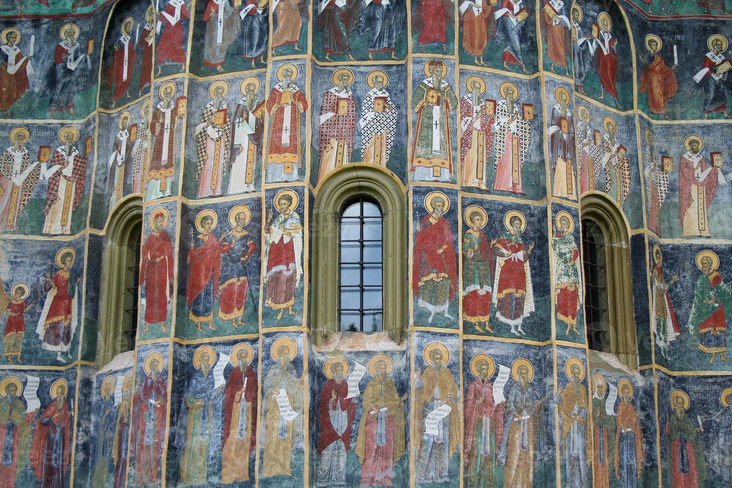fresque avec des saints photo